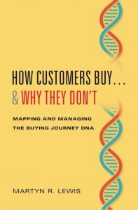 Book cover: How Customers Buy and Why They Don't, mapping and managing the buying journey DNA