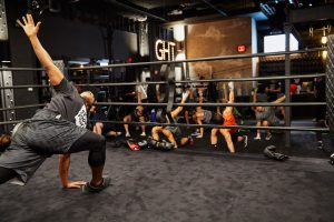 George Foreman Leads Class at EverybodyFights