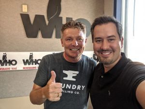 Scott Bush and Justin Brady at WHO Radio