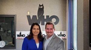 Tulsi Gabbard and Justin Brady in WHO Radio Studios