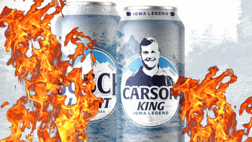 Carson King Busch Beer Can On Fire