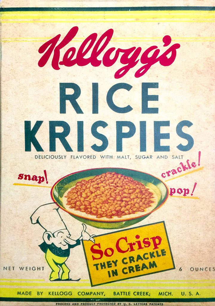 Kellogg's Rice Krispies 1930s box.