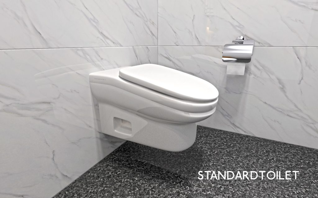 The StandardToilet is an uncomfortable toilet