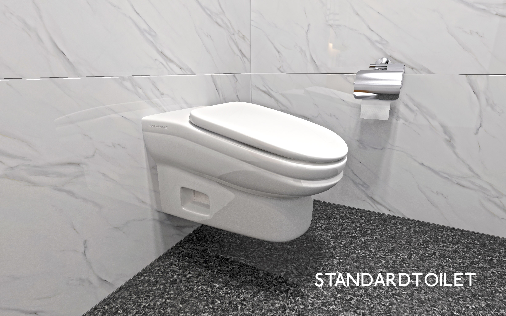 The StandardToilet is an uncomfortable toilet