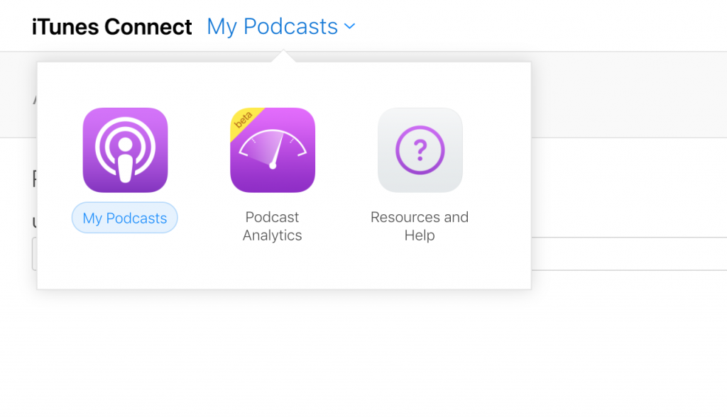 view of Apple's podcast analytics logo