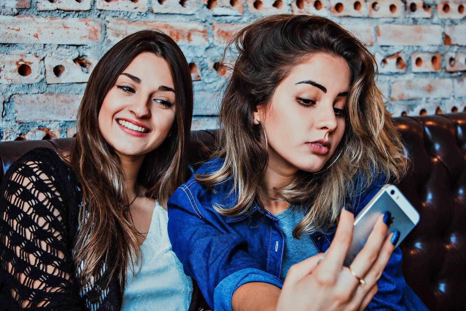 Two ladies taking a selfie