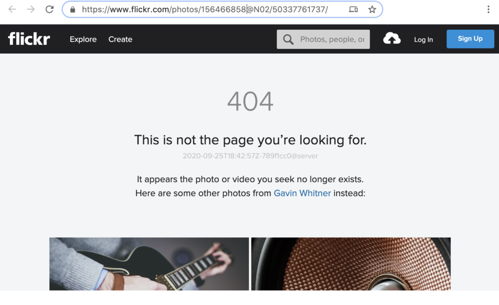 "The image ""Gavin"" claimed he owned no longer exists!"
