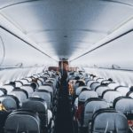 commercial plane cabin