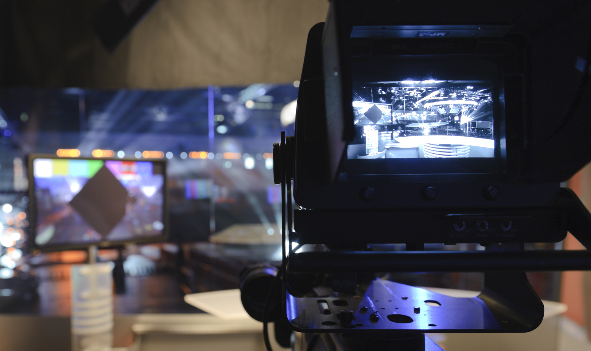 camera pointing at TV studio potential press opportunity